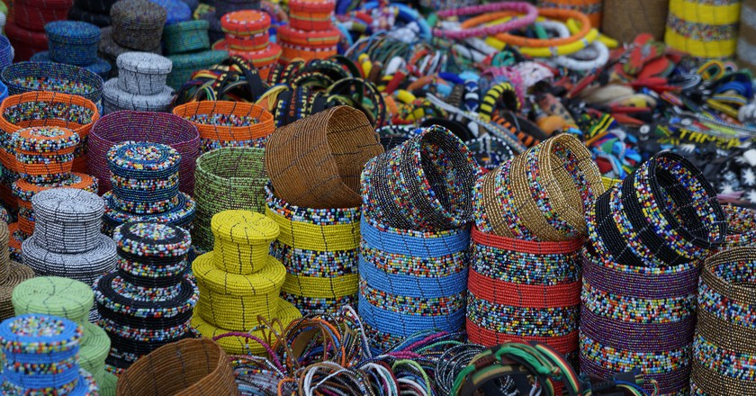 Beaded products at a Maasai market | © Travelholic Path / Flickr