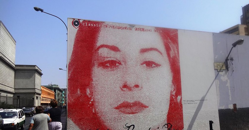 A mural of singer-songwriter Chabuca Granda located in downtown Lima ©Miguel Angel Chong/Wikipedia