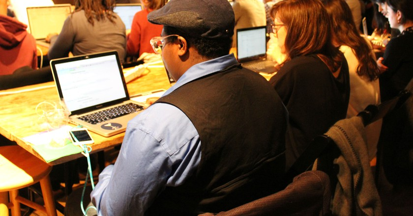 The cognitive coding class in New York | Courtesy of IBM
