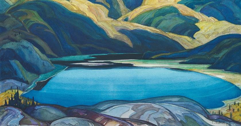 Lone Lake by Franklin Carmichael (1929) | Public Domain