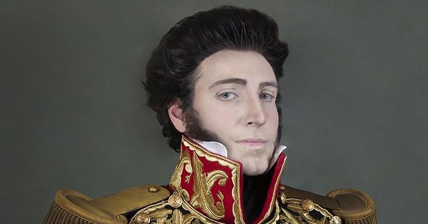 Fuchs transformed into Gran Mariscal Juan Bautista Eléspuru y Montes de Oca, his fifth great grandfather | Courtesy of Christian Fuchs