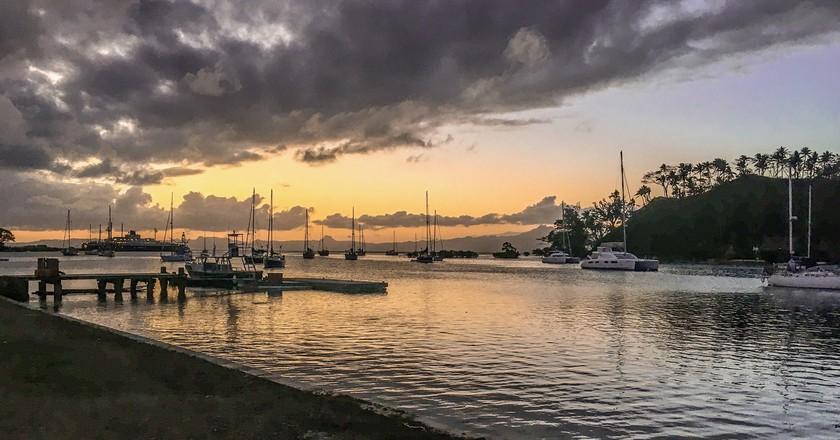 View out to the marina at Savusavu, Fiji   © Juliette Sivertsen