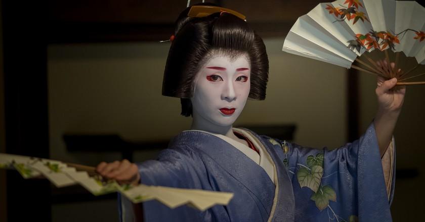 Geiko Miharu at Nijyojinya  © kyoto flowertourism  Flickr