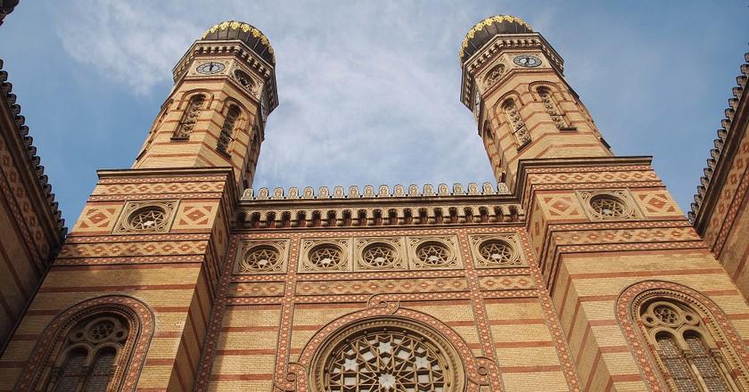 """<a href=""""https://www.flickr.com/photos/jon_elbaz/7290013064/sizes/l"""">Dohány Street Synagogue   © Jon Elbaz / Flickr</a>"""