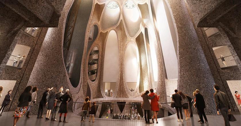 Architect's impression of Zeitz MOCAA Atrium © Heatherwick Studio / Courtesy of Zeitz MOCAA