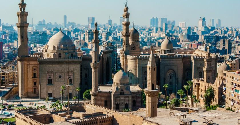Mosque Madrassa of Sultan Hassan photo, panoramic view from fortress in Cairo | © Daria Volyanskaya/Shutterstock