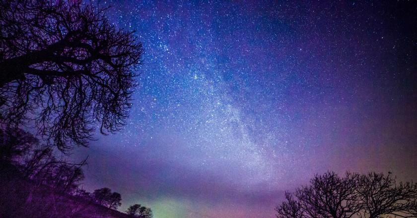 Northern Lights over Yorkshire  © Sandra Cockayne/REX/Shutterstock
