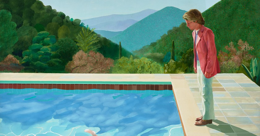 David Hockney, 'Portrait of an artist (Pool with two figures)', 1972 | © David Hockney. Collection: Art Gallery of New South Wales. Photo Credit: Jenni Carter