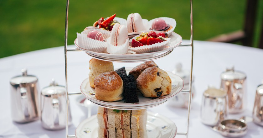 Afternoon tea at Lucknam Park/ Home away from home/ Image Courtesy of Lucknam Park