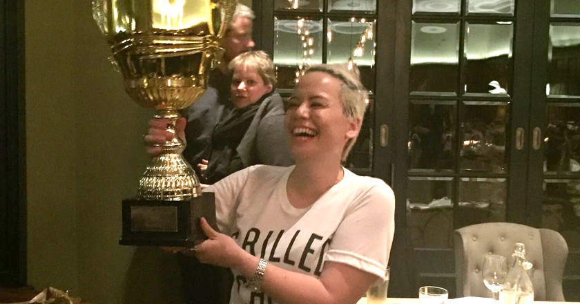 Chef Nina Hopkins from The Drapers Arms, Islington wins the 2017 Scotch Egg Challenge