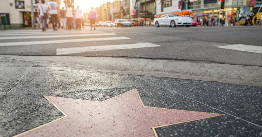 Walk of Fame at sunset on Hollywood Boulevard | © oneinchpunch/Shutterstock