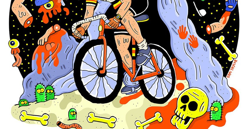 Eddy Merckx as The Cannibal. | © Sam Taylor