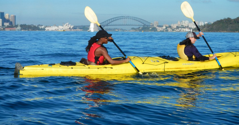 Kayaking the harbour | © Life's An Adventure