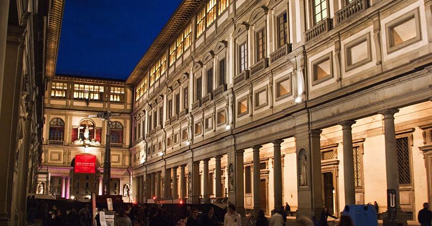 Uffizi by night, Kevin Poh, Flikr