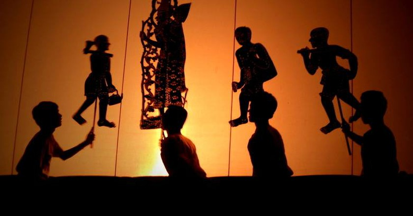 The ancient Khmer art of shadow puppets tells scenes from the Reamker, the Khmer version of the Hindu Ramayana | © Marissa Carruthers