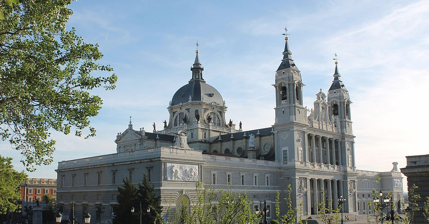 The Almudena Cathedral in Madrid