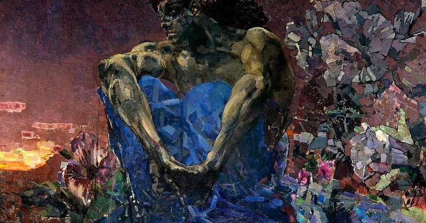 Mikhail Alexandrovich Vrubel 'Demon' 1890 | © Mikhail Alexandrovich Vrubel