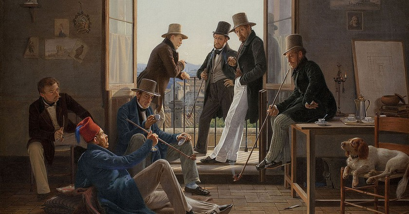 Constantin Hansen, 'A company of Danish artists in Rome', 1837 | Courtesy of Statens Museum of Kunst