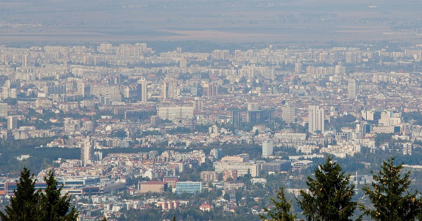 A view of Sofia from Vitosha Mountain | © Bin im Garten/WikiCommons