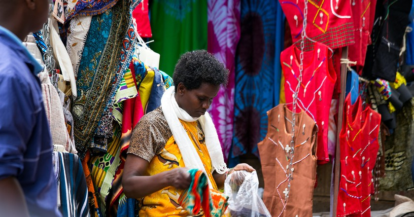 Artisan in Maasai market
