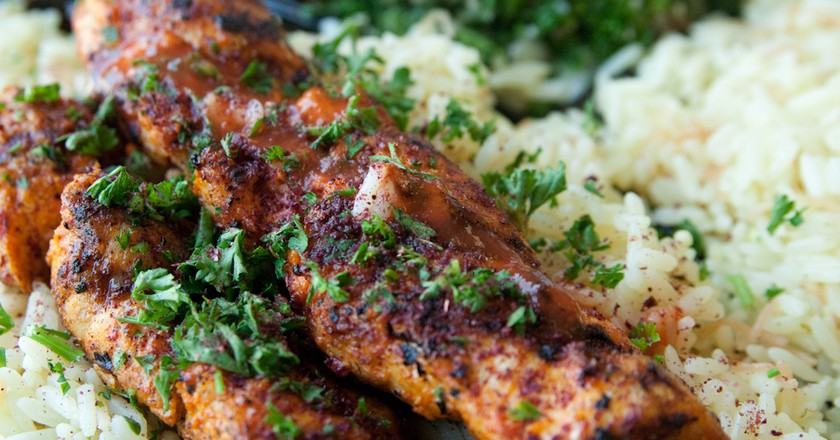 Chicken kabob with rice | © Steven Depolo / Flickr