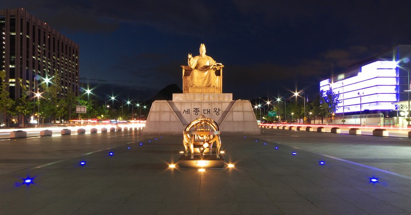 A statue of King Sejong in Seoul   © travel oriented / Flickr
