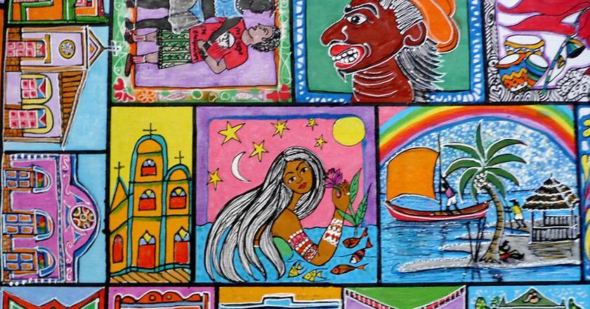 "<a href=""https://commons.wikimedia.org/wiki/File:Art_muralisme_Salvador_de_Bahia.jpg"" target=""_blank"">Art mural, Salvador, Bahia   © Serge Ouachée / Wikimedia Commons</a>"