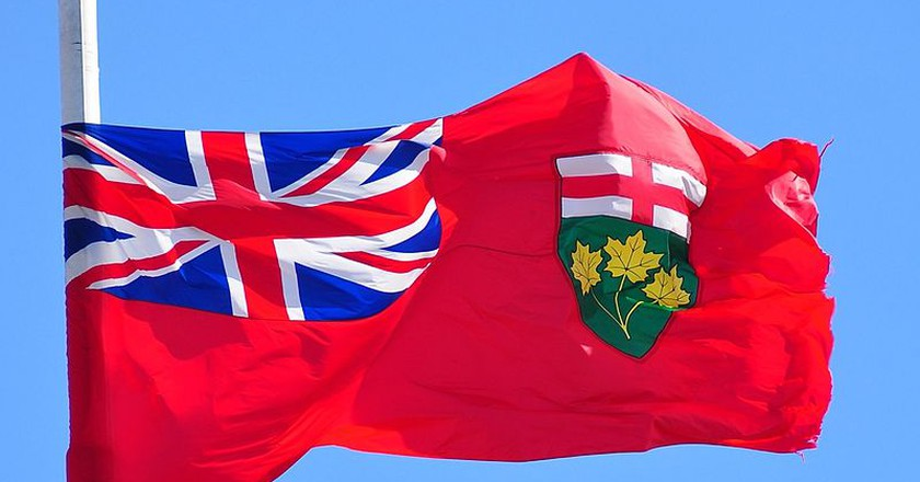 The Ontario provincial flag | © abdallahh / WikiCommons