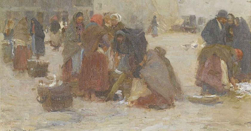 Fish Market, Galway by Walter Osborne | © Sotheby's, London / WikiCommons