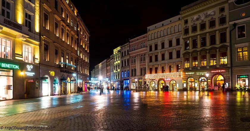 Krakow by night | © Robert/Flickr