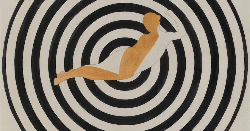 Francis Picabia. Optophone [I] (detail). 1922. Ink, watercolor, and pencil on board, 28 3/8 × 23 5/8″ (72 × 60 cm). Kravis Collection. © 2016 Artist Rights Society (ARS), New York/ADAGP, Paris. Photo: The Museum of Modern Art, John Wronn