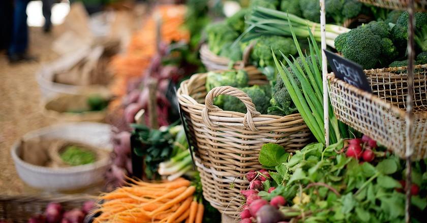Fresh produce in abundance at Oranjezicht City Farm   Courtesy of Oranjezicht City Farm