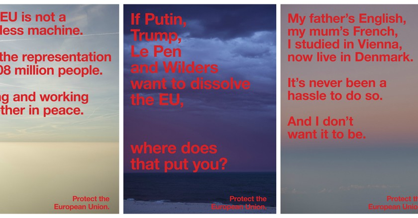 Protect the European Union posters   © Jop van Bennekom, Gert Jonkers, Wolfgang Tillmans