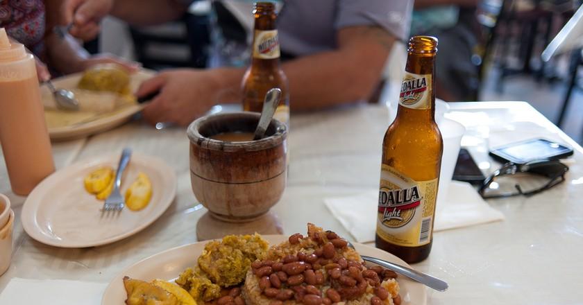 Puerto Rican food and beer   © Jorge Gonzalez/ Flickr