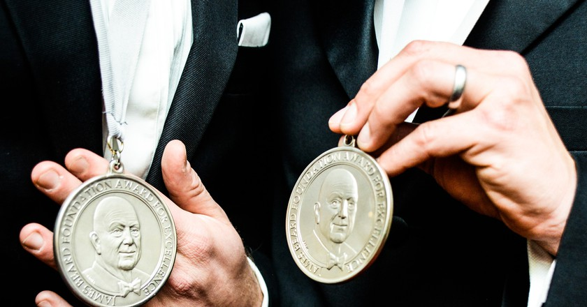 James Beard Foundation Awards medals | ©Carly Erickson/BFA/REX/Shutterstock