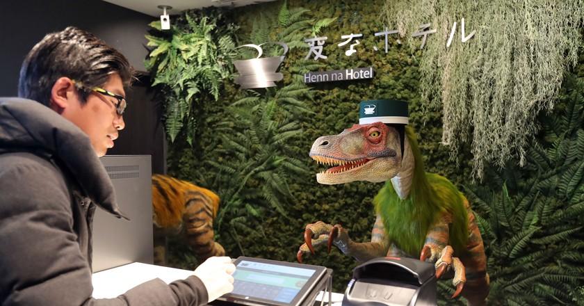 Image result for डायनासोर hotel robot