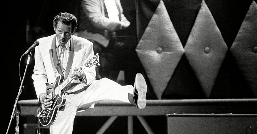 Chuck Berry was famous for his 'duck walk' dance move   © AP/REX/Shutterstock