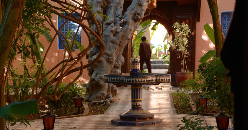 A traditional interior garden in a Moroccan riad | © Panegyrics of Granovetter / Flickr