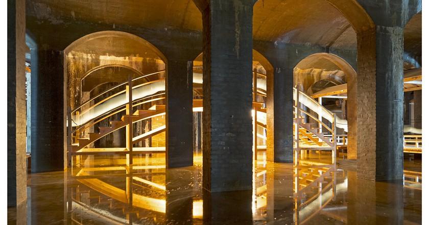 Installation view of  Hiroshi Sambuichi's 'The Water', 2017 | Photo: Jens Markus Lindhe