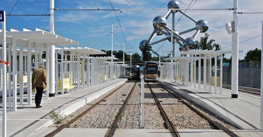 The Atomium tram terminus in Brussels | © Stephane Mignon / Flickr
