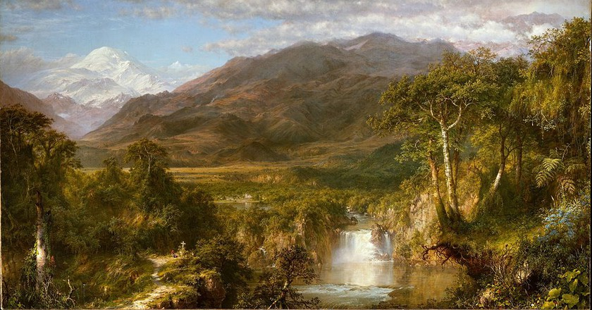 """""""The Heart of the Andes"""" by Frederic Edwin Church was inspired by Humboldt   Wikimedia Commons"""