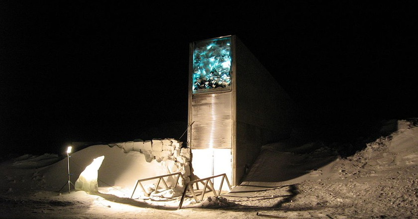 The Entrance to the Svalbard Global Seed Vault | NordGen/Dag Terje Filip Endresen | Public Domain