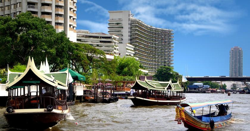 On the Chao Phraya.   © Courtesy of Bernard Spragg. NZ/Flickr