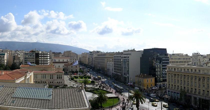 View of Panepistimiou Street   © Lapost / WikiCommons