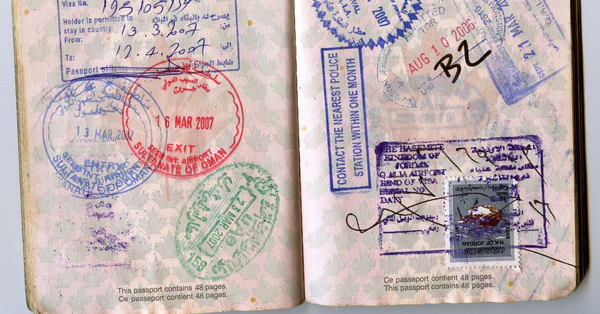 Passport pages 16 and 17. Jon Rawlinson/Creative Commons