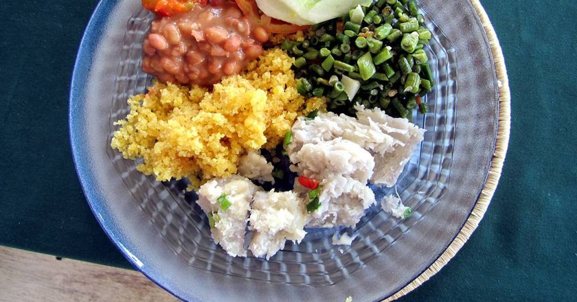 A tasty vegetarian meal   © David Stanley / Flickr