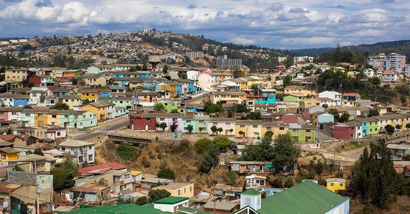 Cerro Polanco, en Valparaíso   © Carlos Reusser Monsalvez