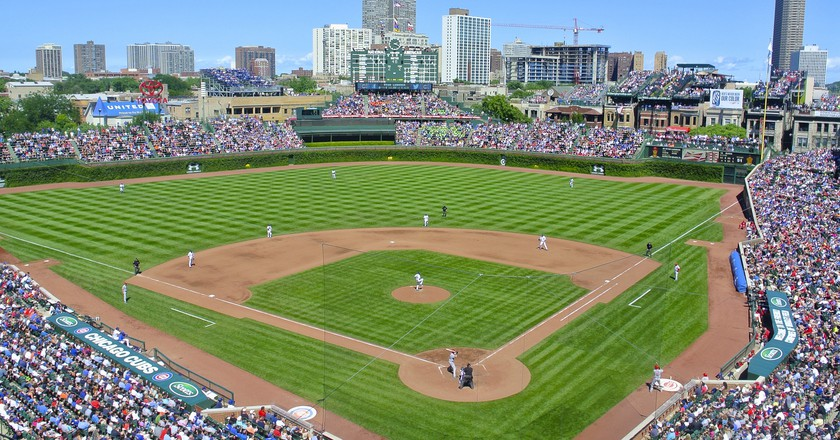 Wrigley Field, built in 1914, is one of the most iconic baseball fields in the country.
