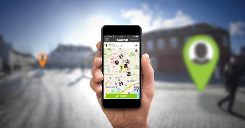 The BlancRide App | Courtesy of BlancRide