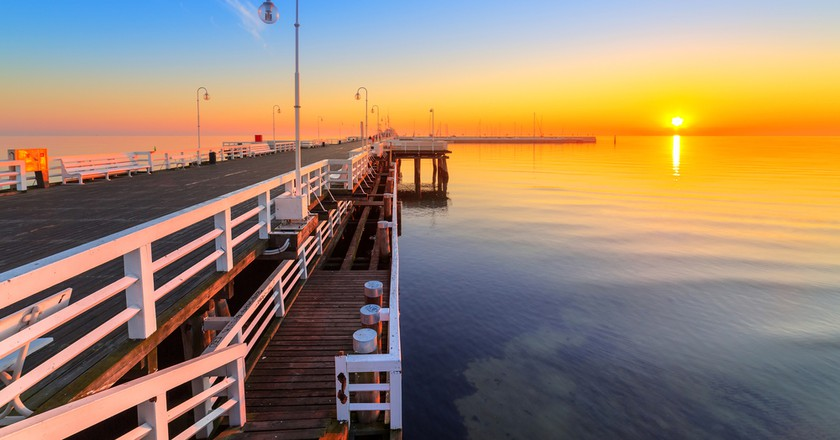 Sunrise at Baltic sea in Sopot, Poland | © Patryk Kosmider/Flickr